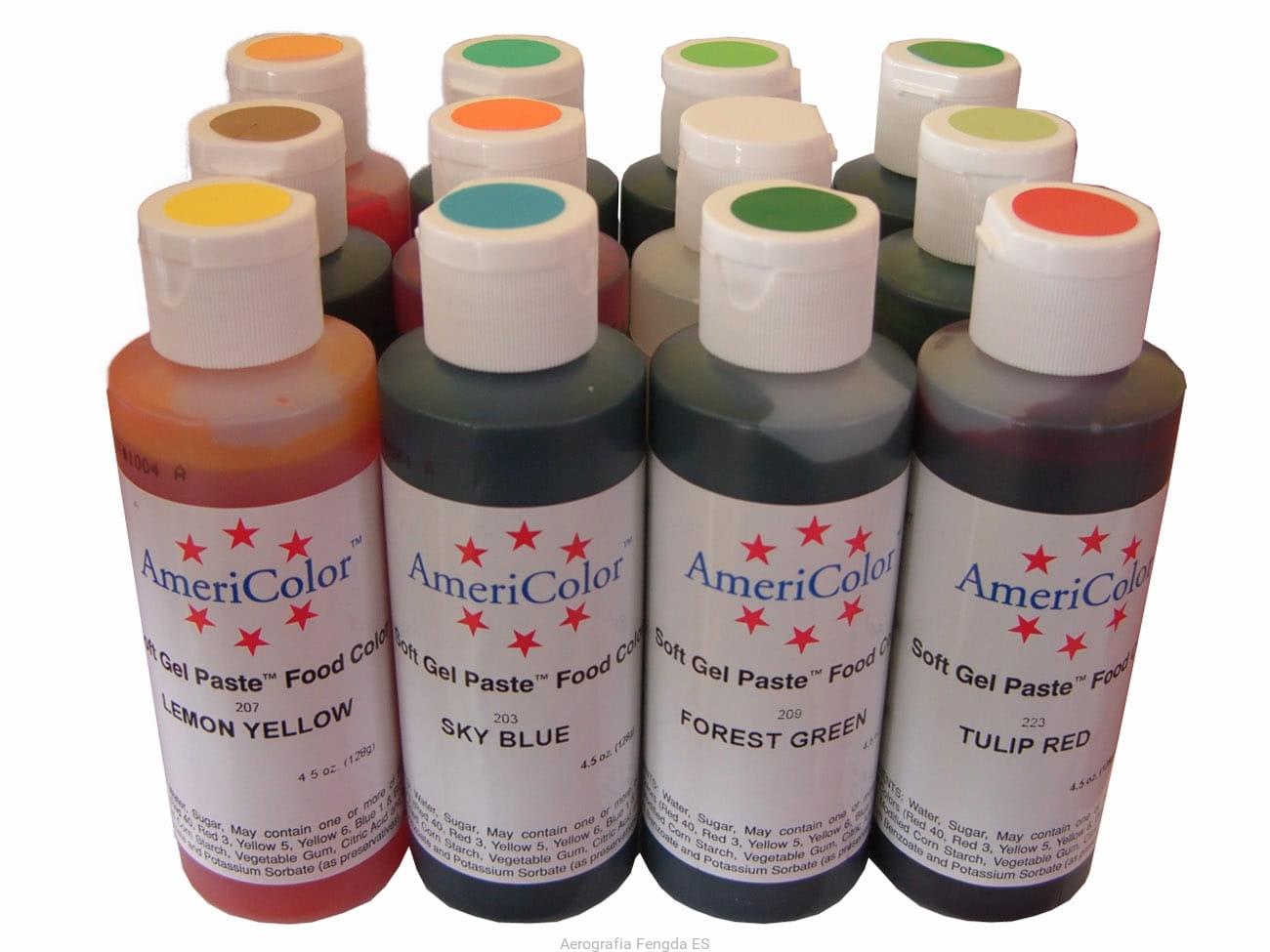 set 12 colores americolor soft gel paste 12x133ml