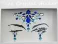 Face Crystal sticker Gem Jewelry LS1007