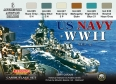 Set colores camuflaje LifeColor CS25 US NAVY WII SET2