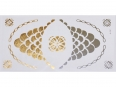 Gold Silver | Jewelry Flash Tattoo stickers W-081, 21x11cm