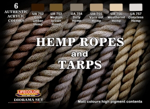 Set colores camuflaje LifeColor CS28 Hemp ropes and Tarps