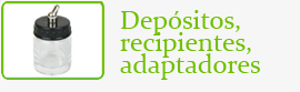 Depósitos, recipientes, adaptadores