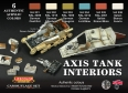 Set colores camuflaje LifeColor CS22 AXIS TANK INTERIORS