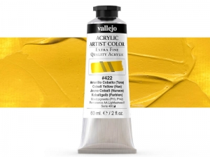Vallejo Acrylic Artist Color 16422 Cobalt Yellow (Hue) (60ml)