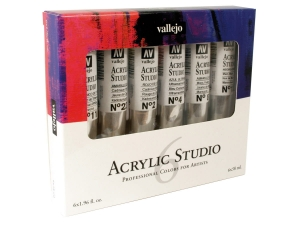 Vallejo Acrylic Studio 21999 Intro Set (6x58ml)