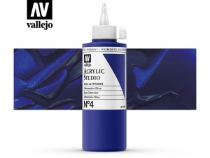 Vallejo Acrylic Studio 22004 Ultramarine Blue (200ml)