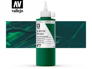 Vallejo Acrylic Studio 22007 Permanent Green (200ml)