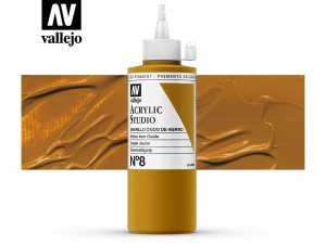 Vallejo Acrylic Studio 22008 Mars Yellow (200ml)
