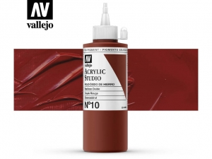 Vallejo Acrylic Studio 22010 Mars Red (200ml)