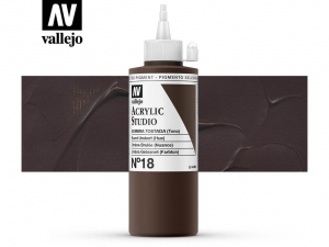 Vallejo Acrylic Studio 22018 Burnt Umber (Hue) (200ml)