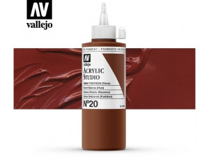 Vallejo Acrylic Studio 22020 Burnt Sienna (Hue) (200ml)