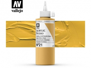 Vallejo Acrylic Studio 22021 Naples Yellow (Hue) (200ml)