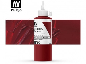 Vallejo Acrylic Studio 22026 Rose Madder (200ml)