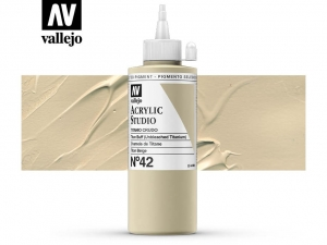 Vallejo Acrylic Studio 22042 Titan Buff (200ml)
