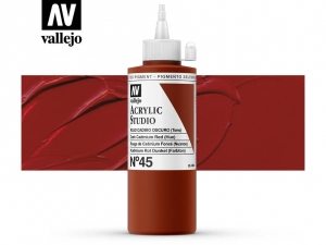 Vallejo Acrylic Studio 22045 Dark Cad. Red (Hue) (200ml)
