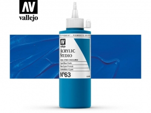 Vallejo Acrylic Studio 22063 Blue Cyan Dark (200ml)