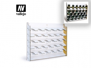 Vallejo 26009 Wall Mounted Paint Display for 35 and 60 ml bottles (display only)