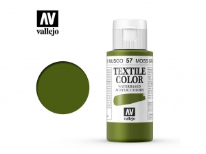 Vallejo Textile Color 40057 Moss Green (Opq) (60ml)