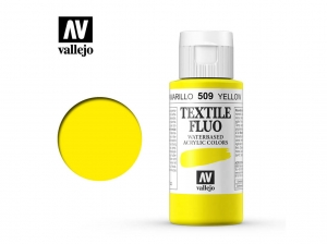 Vallejo Textile Color 40509 Fluorescent Yellow (60ml)