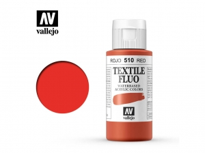 Vallejo Textile Color 40510 Fluorescent Red (60ml)