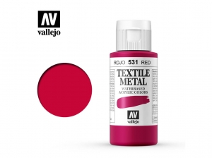 Vallejo Textile Color 40531 Metallic Red (60ml)