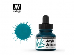 Vallejo Acrylic Artist Ink 60011 Turquoise (30ml)