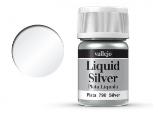 Vallejo Liquid Gold 70790 Silver (Alcohol Based) (35ml)