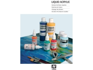Vallejo CC032 Color Chart: Liquid Acrylic