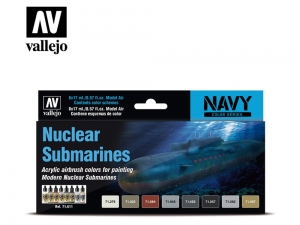 Vallejo Model Air Set 71611 Nuclear Submarines (8)
