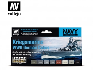 Vallejo Model Air Set 71615 Kriegsmarine WWII German Colors (8)