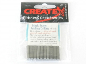 CREATEX 300693 Eraser insets hard 10pcs (for 300691)