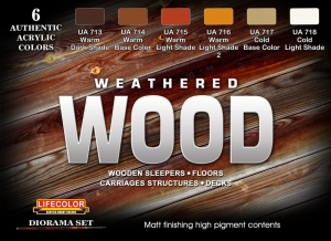 Set colores temáticos LifeColor CS20 WEATHERED WOOD